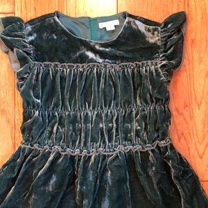 J. Crew Dresses - J. Crew Girls' smocked-waist dress in velvet